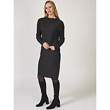 Betty & Co Long Sleeve Ribbed Knit Dress