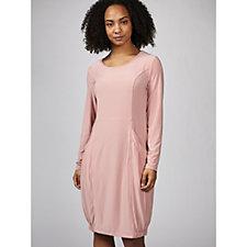 169900 - Long Sleeve Dress with Elasticated Hem & Front Pockets by Nina Leonard