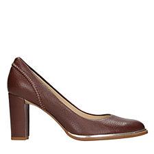 Clarks Ellis Edith Leather Court Shoe Standard Fit