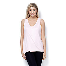 H by Halston Wrap Front V-Neck Top