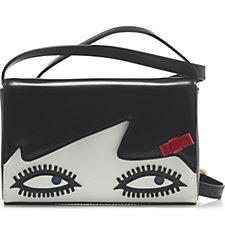 Lulu Guinness Edna Doll Face Leather Crossbody Bag