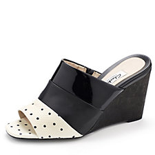 161501 - Clarks Image Pop Contrast Colour Mule with Wedge Heel