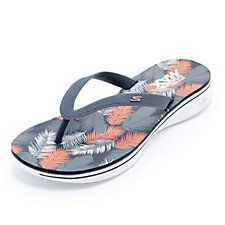 Skechers H2 Goga Lagoon Leaf Print Toe Post Sandal