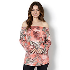 Mr Max Printed Peasant Style Top