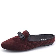 Vionic Orthotic Snug Eloise Velvet Mule Slippers w/ FMT Technology