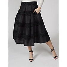 Ronni Nicole Taffeta Skirt with Beading Detail