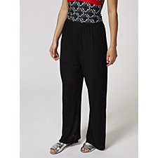 173201 - Kim & Co Holiday Linen Look Knit Beach Cover Up Trousers