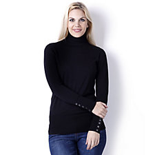 Diane Gilman Quad Blend Turtleneck Sweater Top