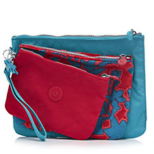 Kipling Beauty of Gifting Iaka L L Set of 3 Pouches with Wristlets