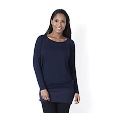 Diane Gilman Perfect Tuck Long Sleeve Bateau Neck Dolman Sleeve Top