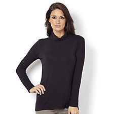Essentials Long Sleeve Polo Neck Top by Nina Leonard