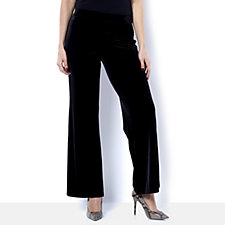 Isaac Mizrahi Live Full Length Wide Leg Pull On Trouser