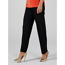Nina Leonard Pleated Wide Leg Regular Trousers