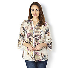 Fashion by Together Printed Button Through Georgette Shirt