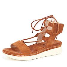 Manas Suede Lace Up Sandal