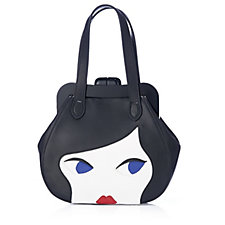 Lulu Guinness Small Doll Face Smooth Leather Pollyanna Shoulder Bag