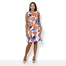 Ronni Nicole Sleeveless Printed Shift Dress w/ Back Zip