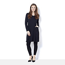 Yong Kim Colour Block Tunic Dress with Pockets