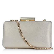 Claudia Canova Shimmer Clutch Bag with Detachable Chain