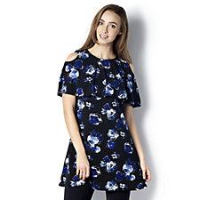 Grace Floral Print Cold Shoulder Tunic