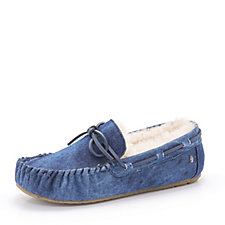 Emu Nest Collection Amitry Distress Denim Look Sheepskin Slippers