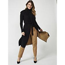 MarlaWynne Boucle Front Tie Vest