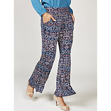 Hannah Printed Flared Trousers by Onjenu London