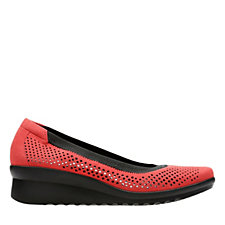 Clarks Caddell Trail Slip On Shoe with Wedge Heel Standard Fit