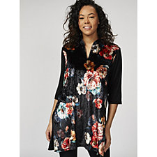 Butler & Wilson Chinese Neck Flower Print Top