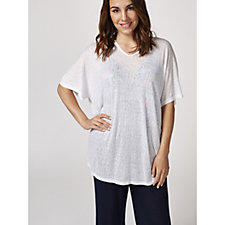 Kim & Co Holiday Linen Look Knit Cover Up