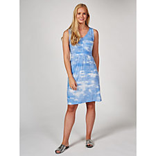 Sleeveless Printed Tie Back Dress by Nina Leonard