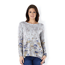 MarlaWynne Bubbles Print Crew Top