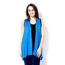 Kim & Co Soft Sweater Knit Sleeveless Edge To Edge Duster
