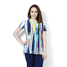 Printed Pleat Front Tunic by Nina Leonard