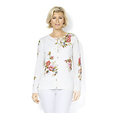 159703 - Fashion by Together Floral Cardigan with Pearl Buttons