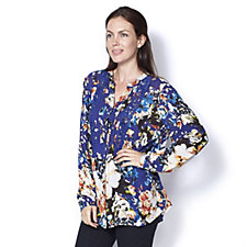 Together Floral Printed Crinkle Viscose Blouse