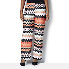 Chelsea Muse by Christopher Fink Chevron Knit Wide Leg Trousers