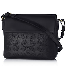 Orla Kiely Sixties Stem Punched Leather Olivia Bag