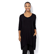 Join Clothes Knitted V Neck Bubble Hem Tunic