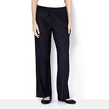 Pleated Wide Leg Trousers Petite Length by Nina Leonard