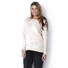 MarlaWynne All Over Jacquard Semi Sheer Box Top