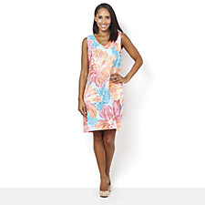 Ronni Nicole Sleeveless V Neck Printed Dress