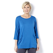 Yong Kim 3/4 Sleeve Tunic with Drape Pockets
