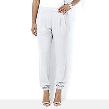 MarlaWynne Pebble Crepe Modern Slouch Trousers