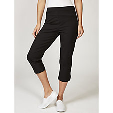Isaac Mizrahi Live 24/7 Stretch Cropped Pull On Trousers Regular