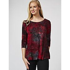 167203 - Fashion by Together 3/4 Sleeve Devore Tunic