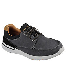 Skechers Men's Elent Mosen Canvas Bungee Lace Slip On Shoe