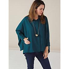 WynneLayers Crepe Kimono Sleeve Shirt