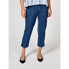 Isaac Mizrahi Live Cropped Pull On Jeans Regular