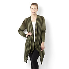 Attitudes by Renee Ombre Dip Side Hem Edge to Edge Cardigan